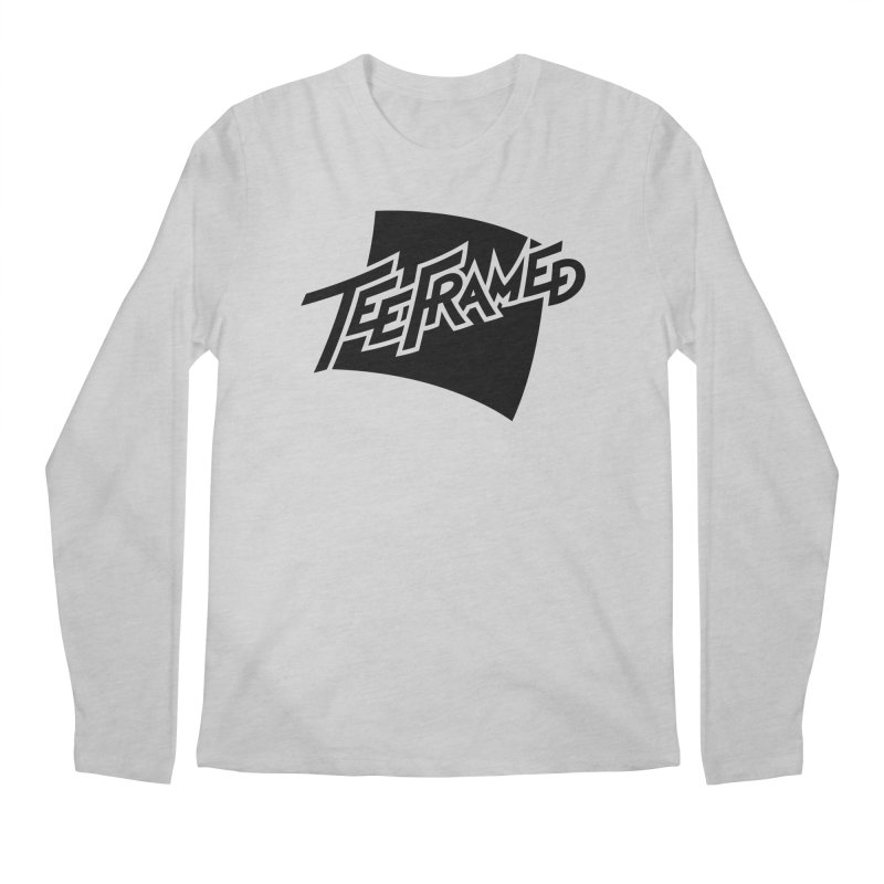 Teeframed - Black Logo Men's Regular Longsleeve T-Shirt by Teeframed