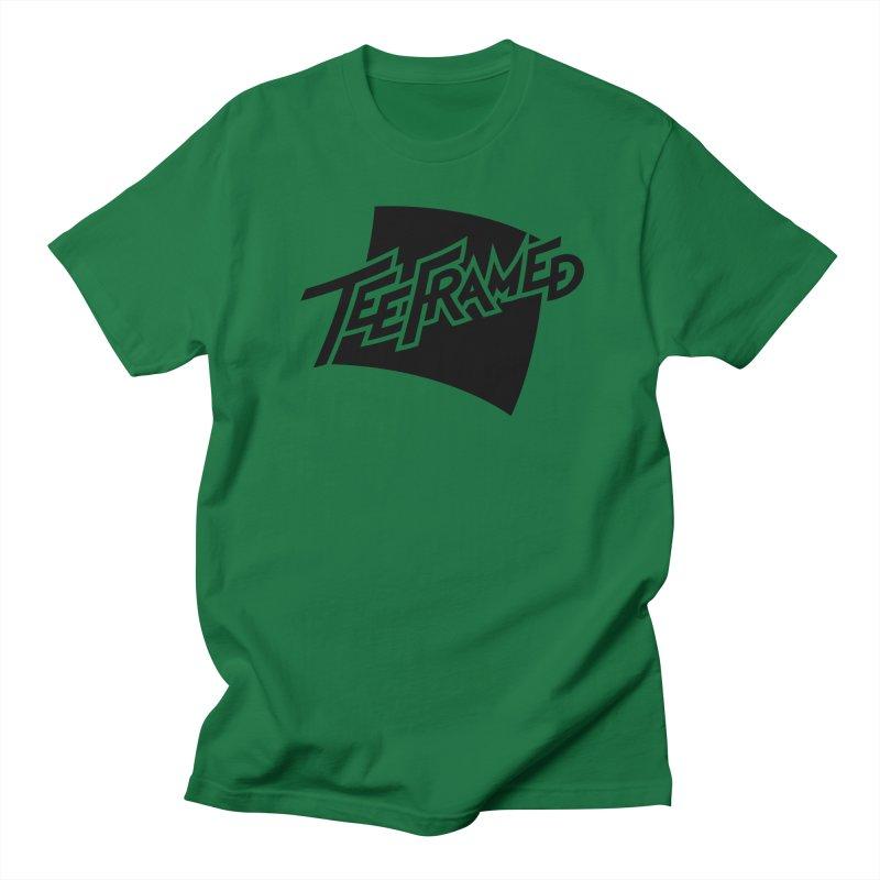 Teeframed - Black Logo Women's Regular Unisex T-Shirt by Teeframed