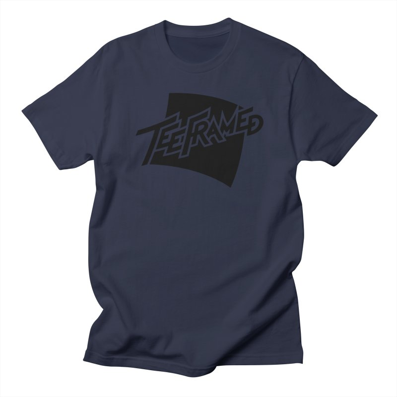 Teeframed - Black Logo Men's T-Shirt by Teeframed