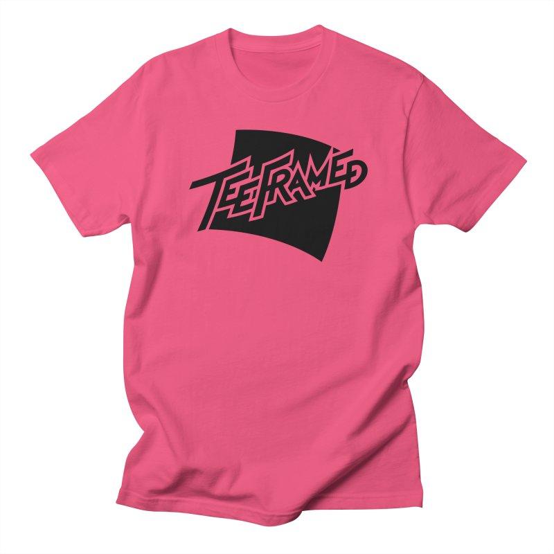 Teeframed - Black Logo Men's Regular T-Shirt by Teeframed