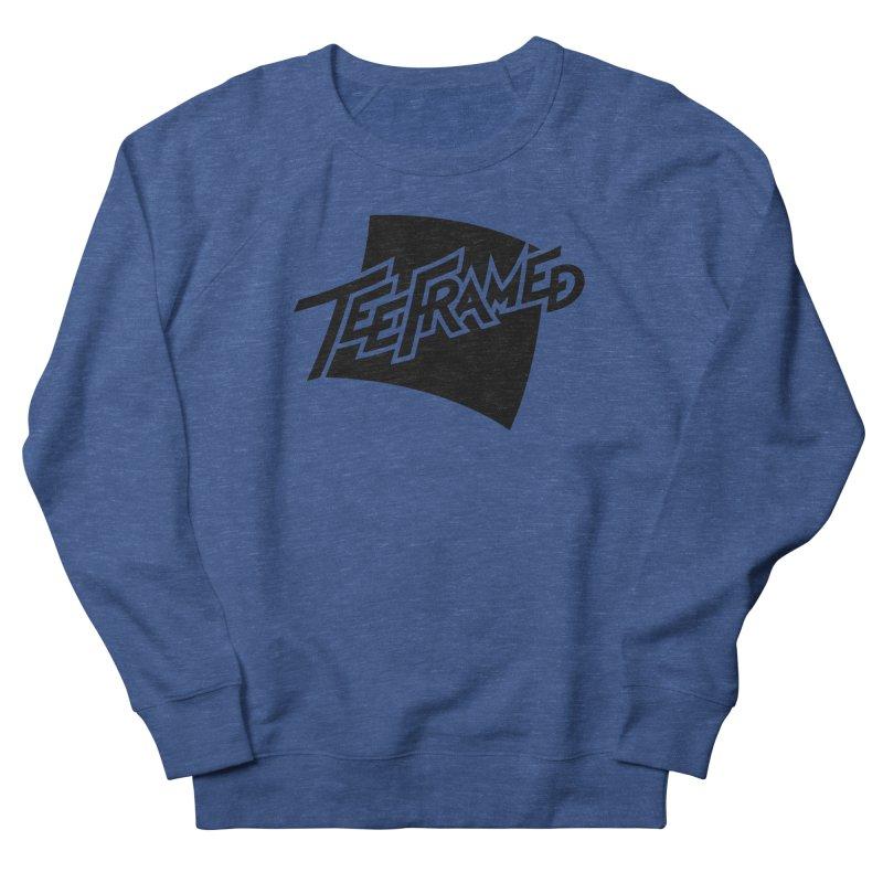Teeframed - Black Logo Women's French Terry Sweatshirt by Teeframed