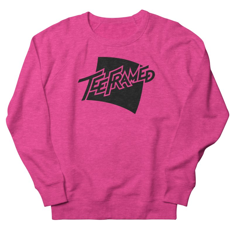 Teeframed - Black Logo Women's French Terry Sweatshirt by Teeframed