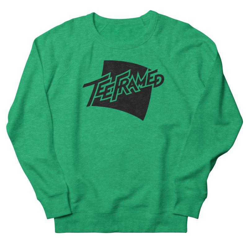 Teeframed - Black Logo Men's French Terry Sweatshirt by Teeframed