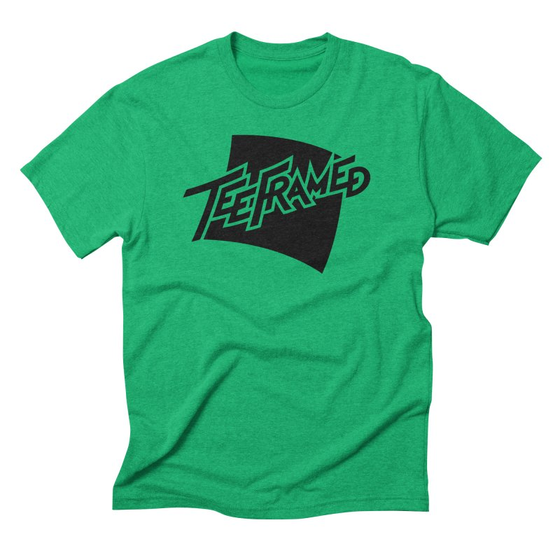 Teeframed - Black Logo in Men's Triblend T-Shirt Tri-Kelly by Teeframed