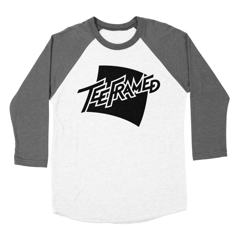 Teeframed - Black Logo Women's Baseball Triblend Longsleeve T-Shirt by Teeframed