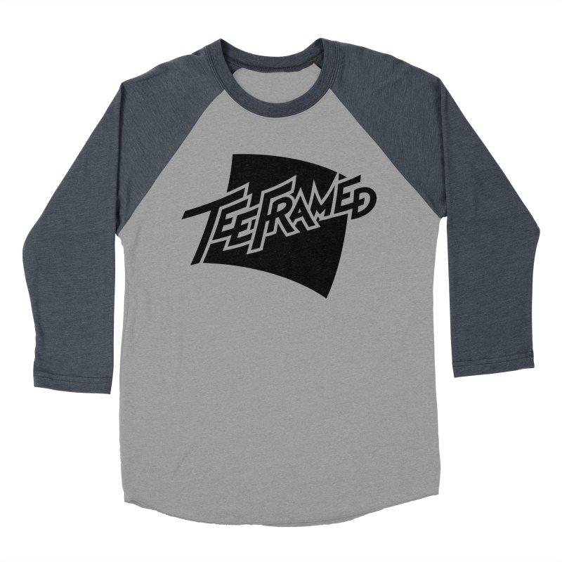 Teeframed - Black Logo Women's Baseball Triblend Longsleeve T-Shirt by Teeframed