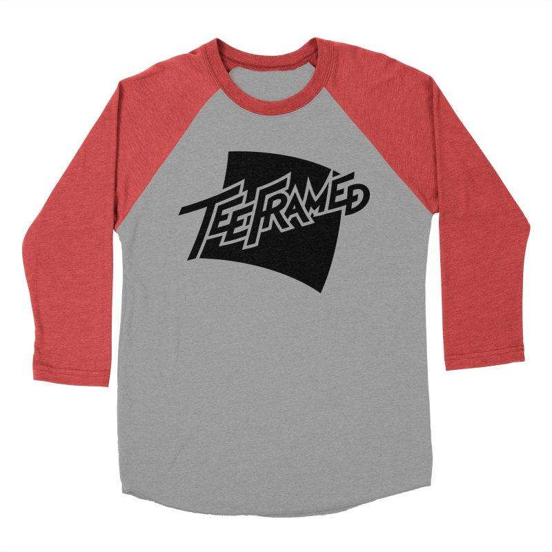 Teeframed - Black Logo Men's Baseball Triblend Longsleeve T-Shirt by Teeframed