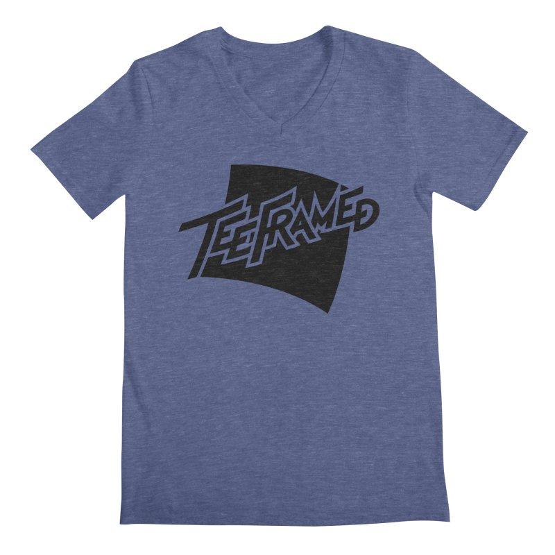 Teeframed - Black Logo Men's Regular V-Neck by Teeframed