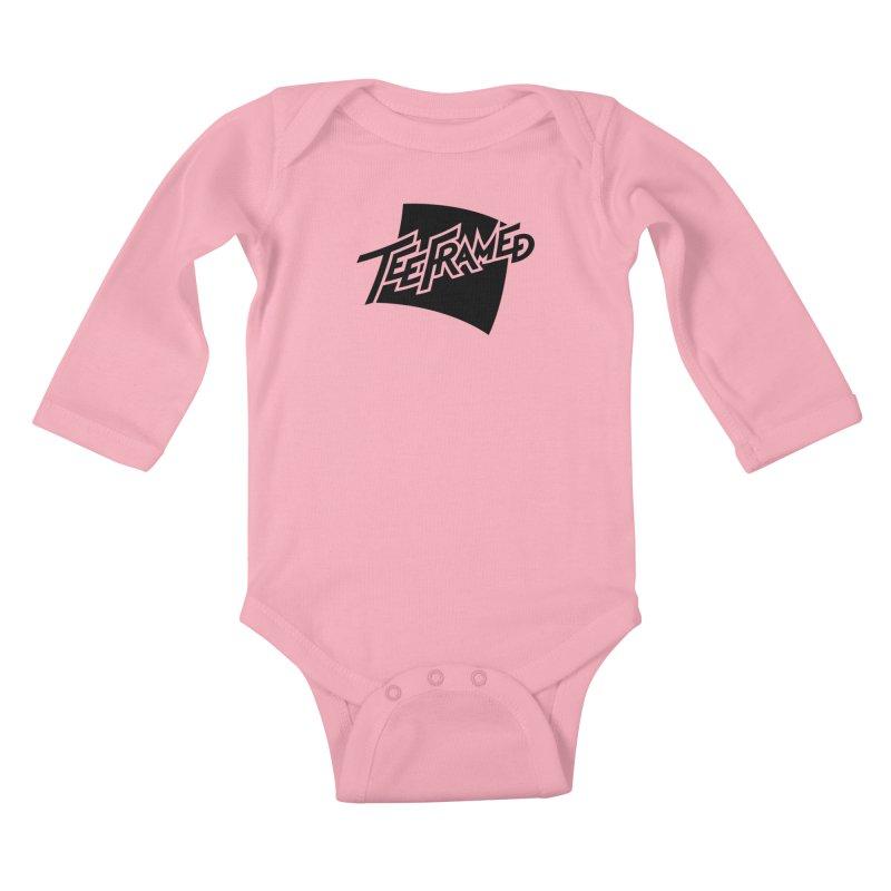Teeframed - Black Logo Kids Baby Longsleeve Bodysuit by Teeframed