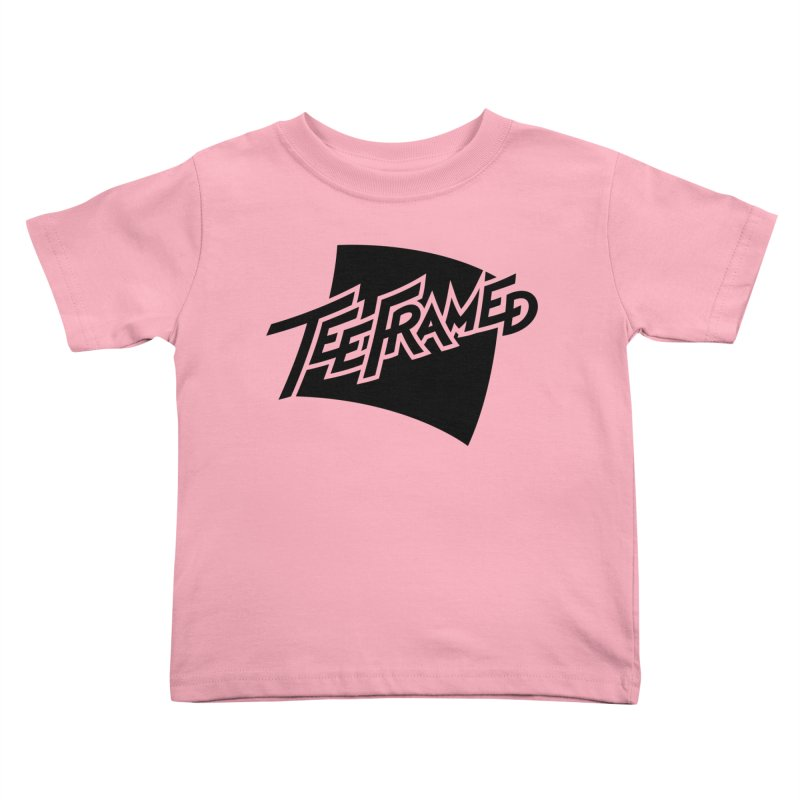Teeframed - Black Logo Kids Toddler T-Shirt by Teeframed