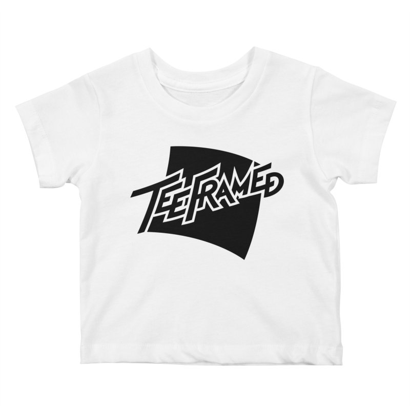 Teeframed - Black Logo Kids Baby T-Shirt by Teeframed