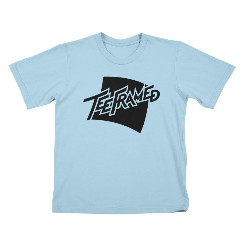 Teeframed - Black Logo Kids T-Shirt by Teeframed