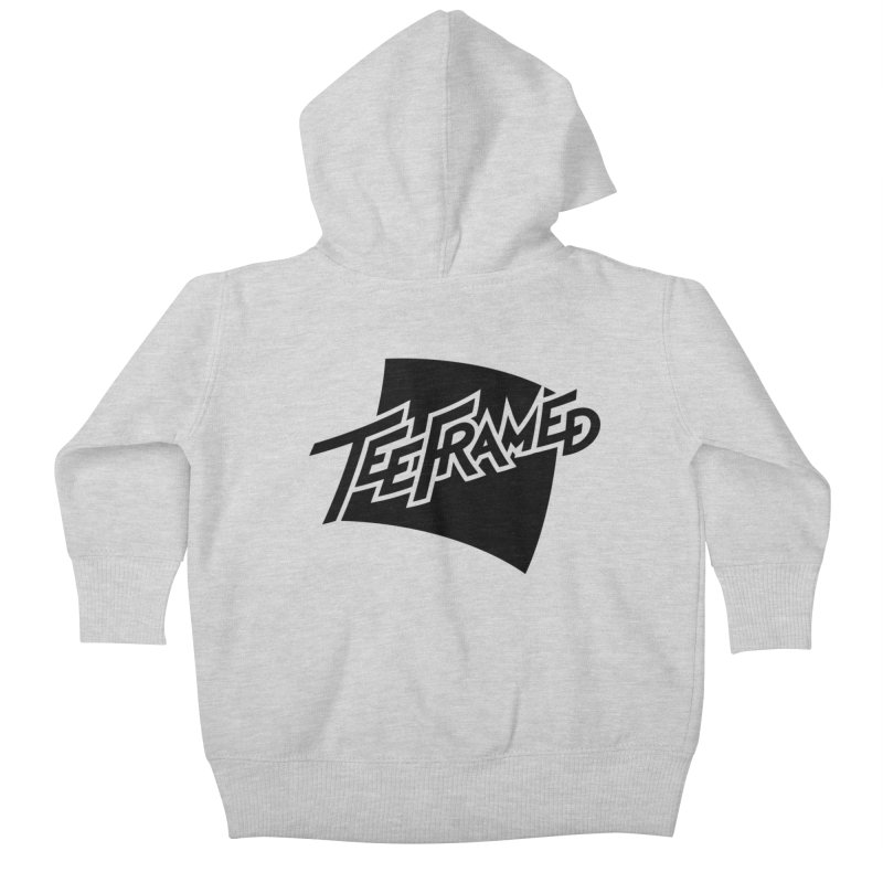 Teeframed - Black Logo Kids Baby Zip-Up Hoody by Teeframed