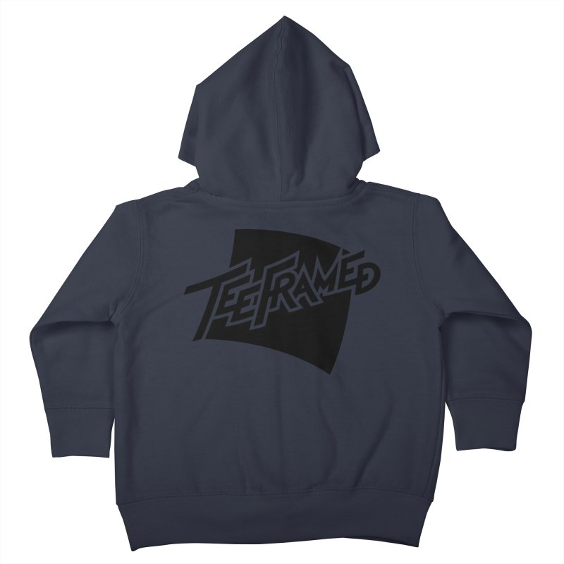 Teeframed - Black Logo Kids Toddler Zip-Up Hoody by Teeframed