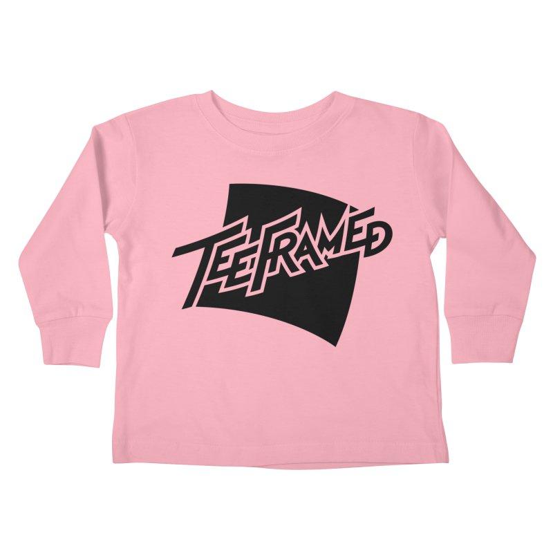 Teeframed - Black Logo Kids Toddler Longsleeve T-Shirt by Teeframed