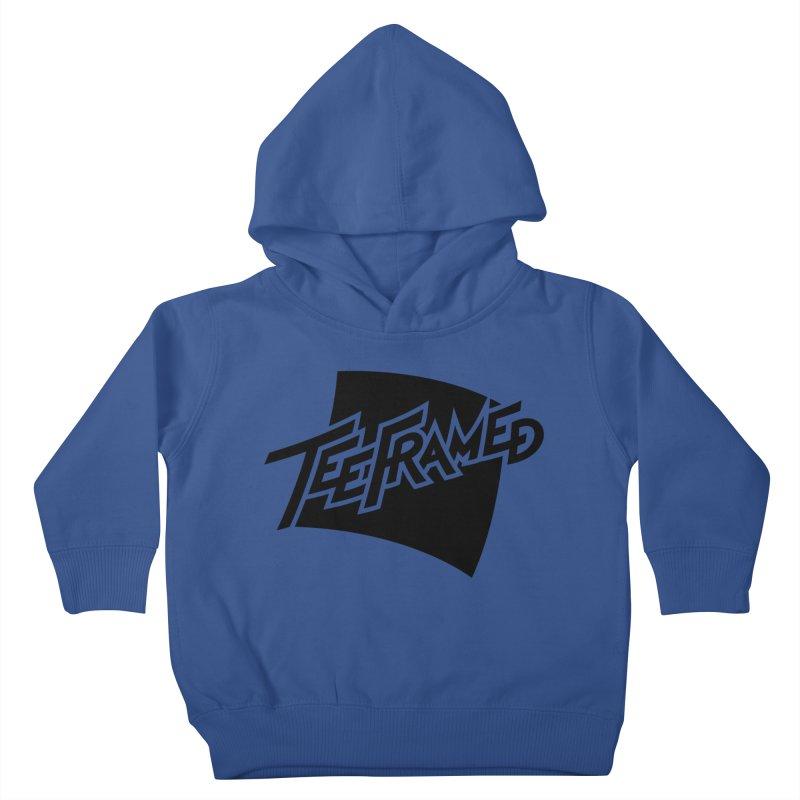 Teeframed - Black Logo Kids Toddler Pullover Hoody by Teeframed