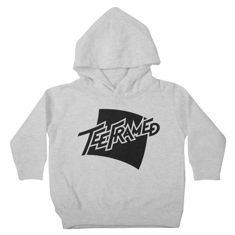 Teeframed - Black Logo Kids Toddler Pullover Hoody by Teeframed