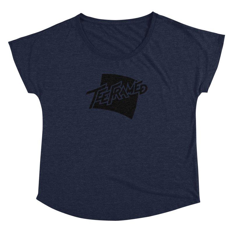 Teeframed - Black Logo Women's Dolman Scoop Neck by Teeframed