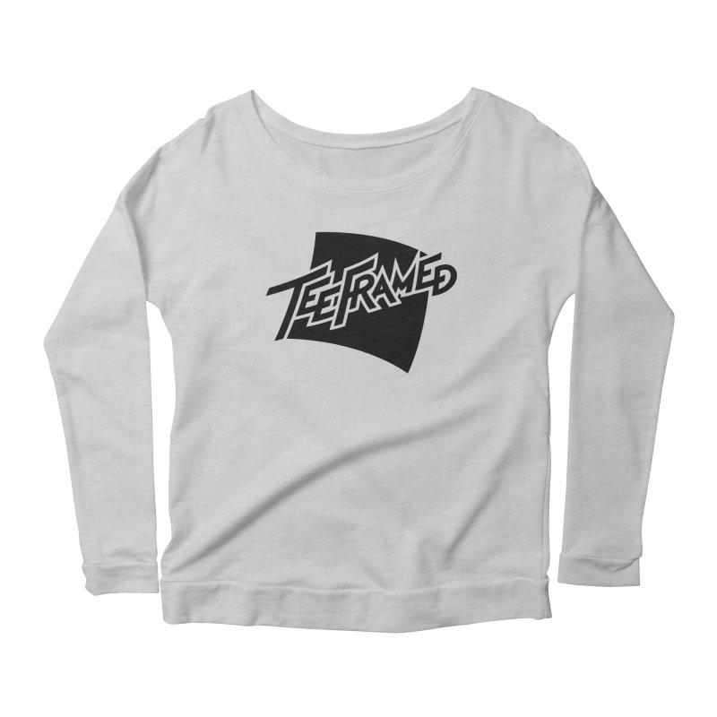 Teeframed - Black Logo Women's Longsleeve Scoopneck  by Teeframed