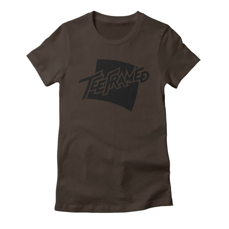Teeframed - Black Logo Women's Fitted T-Shirt by Teeframed