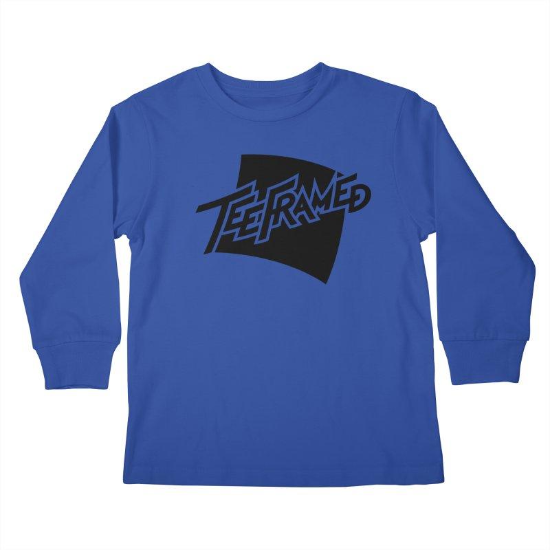 Teeframed - Black Logo Kids Longsleeve T-Shirt by Teeframed