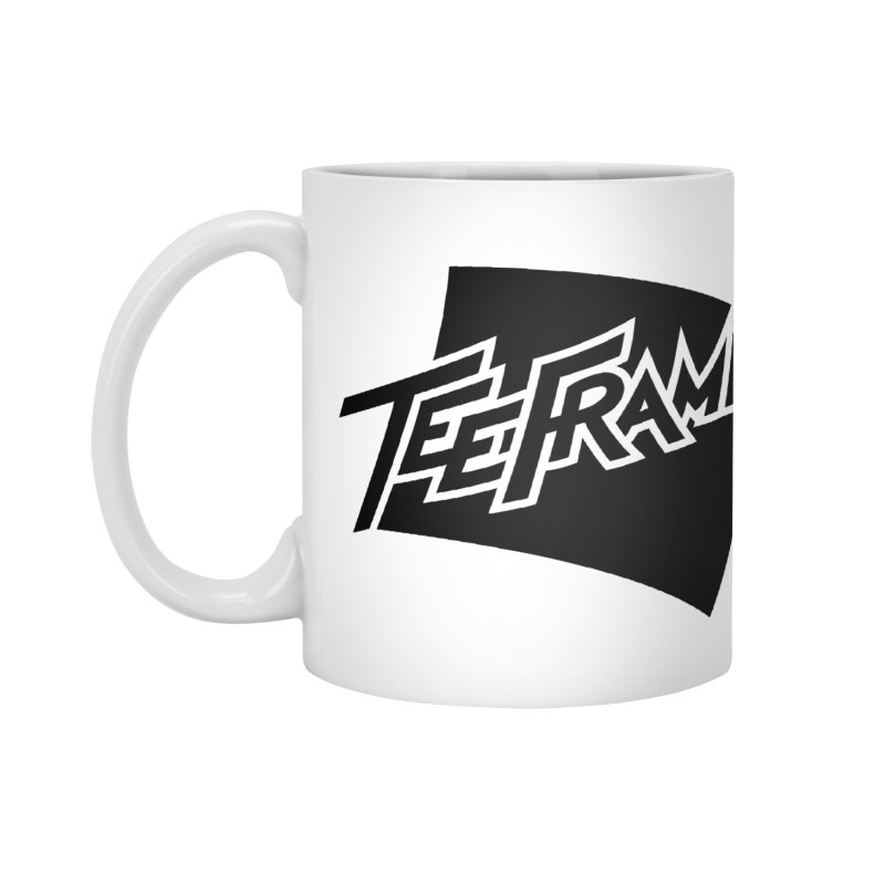 Teeframed - Black Logo Accessories Mug by Teeframed