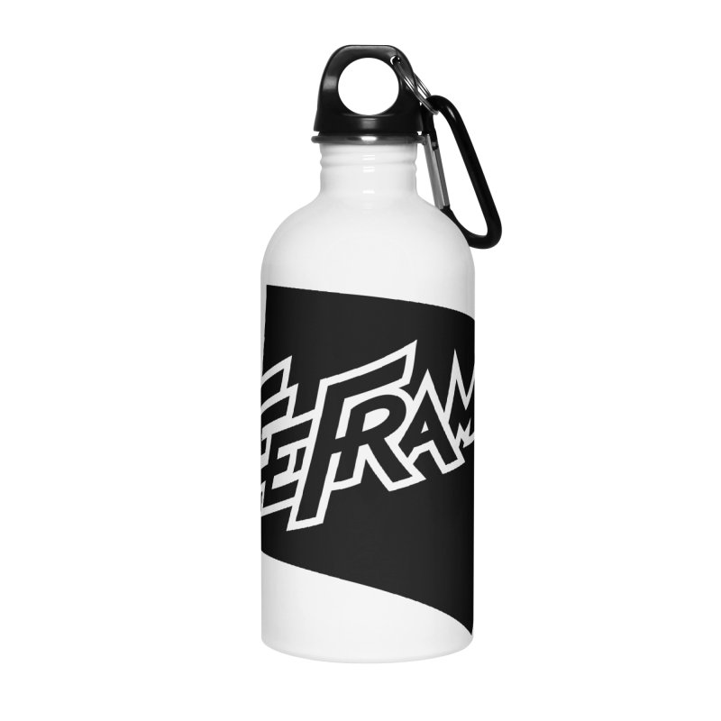 Teeframed - Black Logo Accessories Water Bottle by Teeframed