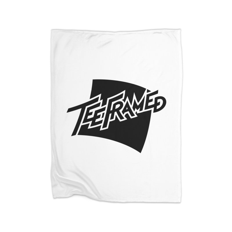 Teeframed - Black Logo Home Fleece Blanket Blanket by Teeframed