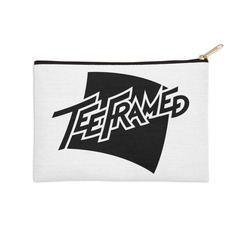 Teeframed - Black Logo Accessories Zip Pouch by Teeframed