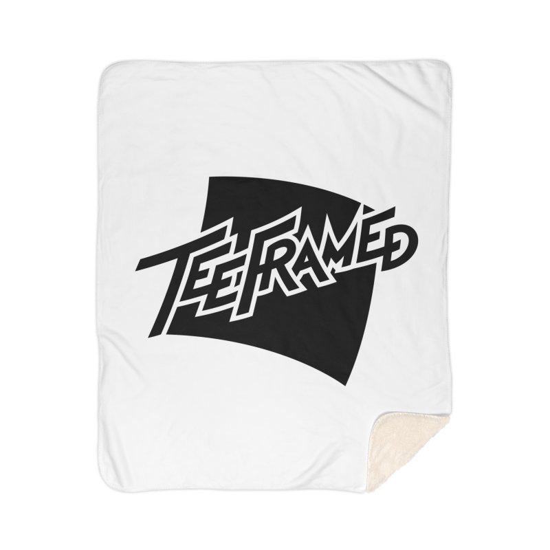 Teeframed - Black Logo Home Sherpa Blanket Blanket by Teeframed