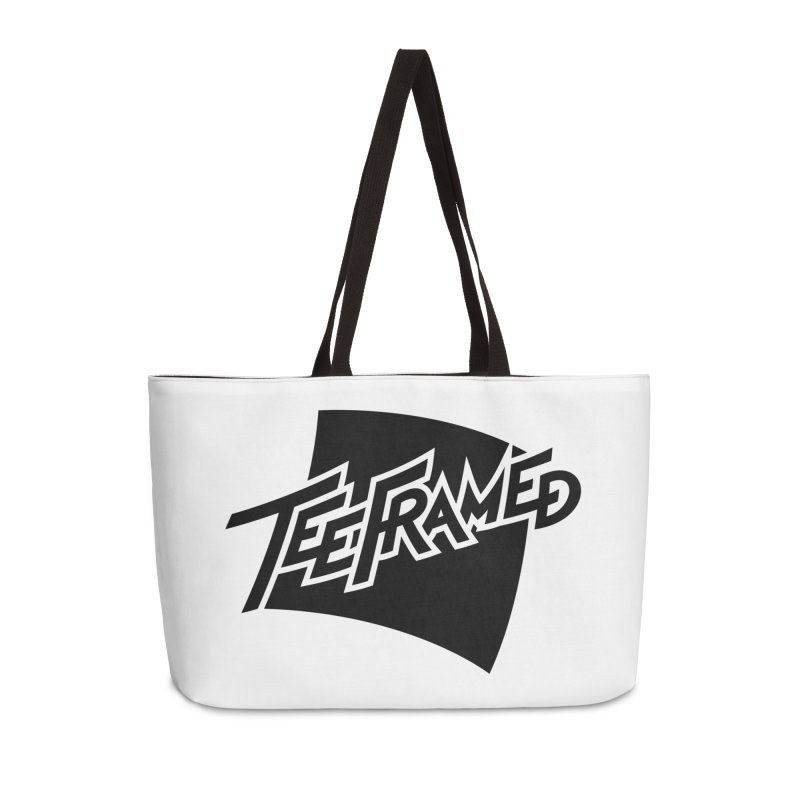 Teeframed - Black Logo Accessories Weekender Bag Bag by Teeframed