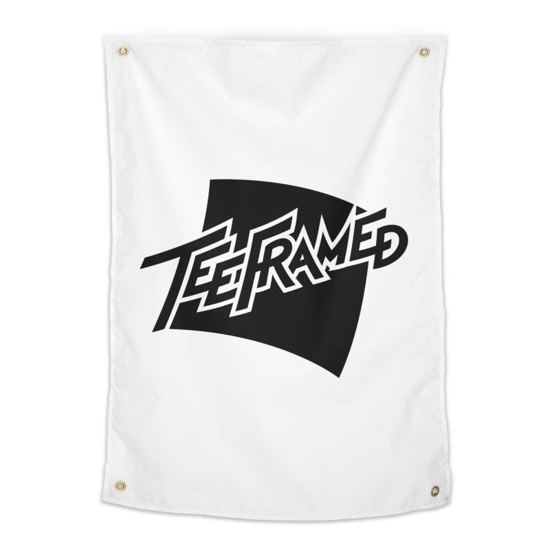 Teeframed - Black Logo Home Tapestry by Teeframed
