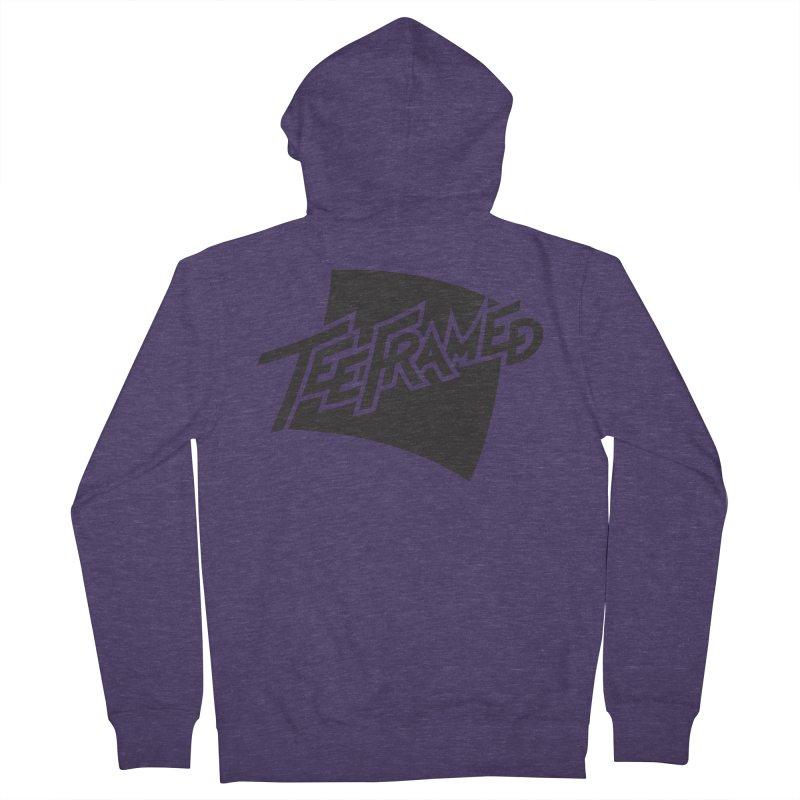 Teeframed - Black Logo Men's Zip-Up Hoody by Teeframed