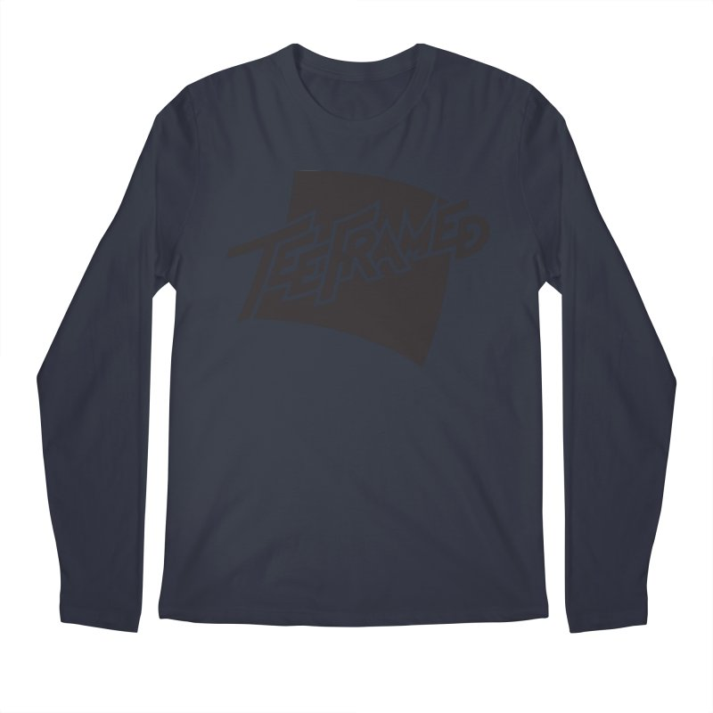 Teeframed - Black Logo Men's Longsleeve T-Shirt by Teeframed