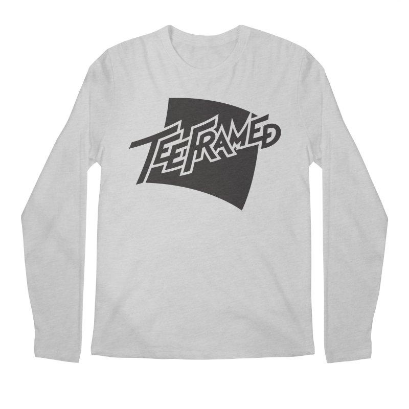 Teeframed - Black Logo Men's Longsleeve T-Shirt by Teeframed