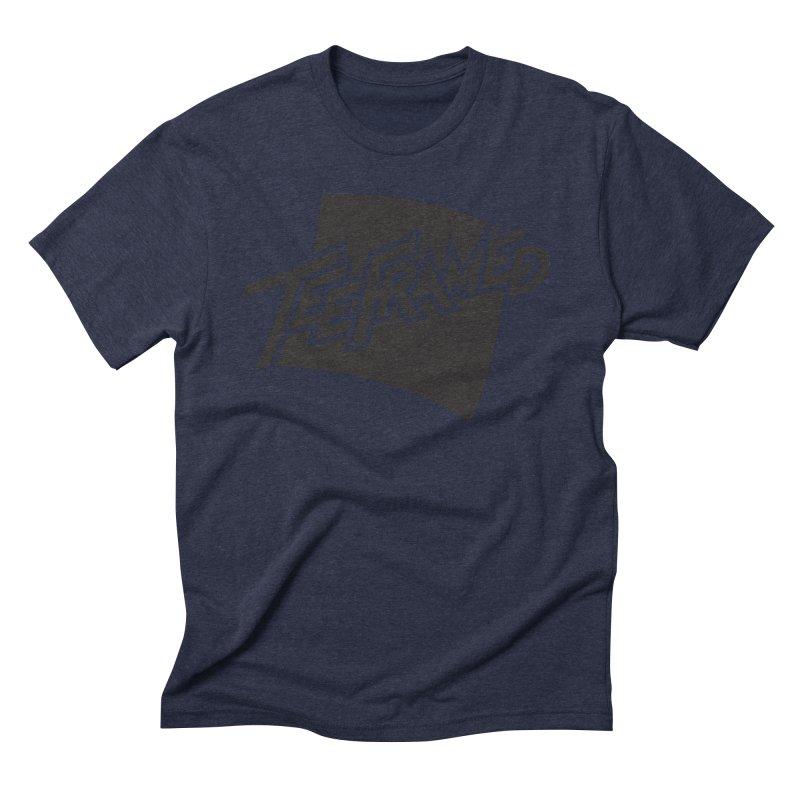 Teeframed - Black Logo Men's Triblend T-shirt by Teeframed