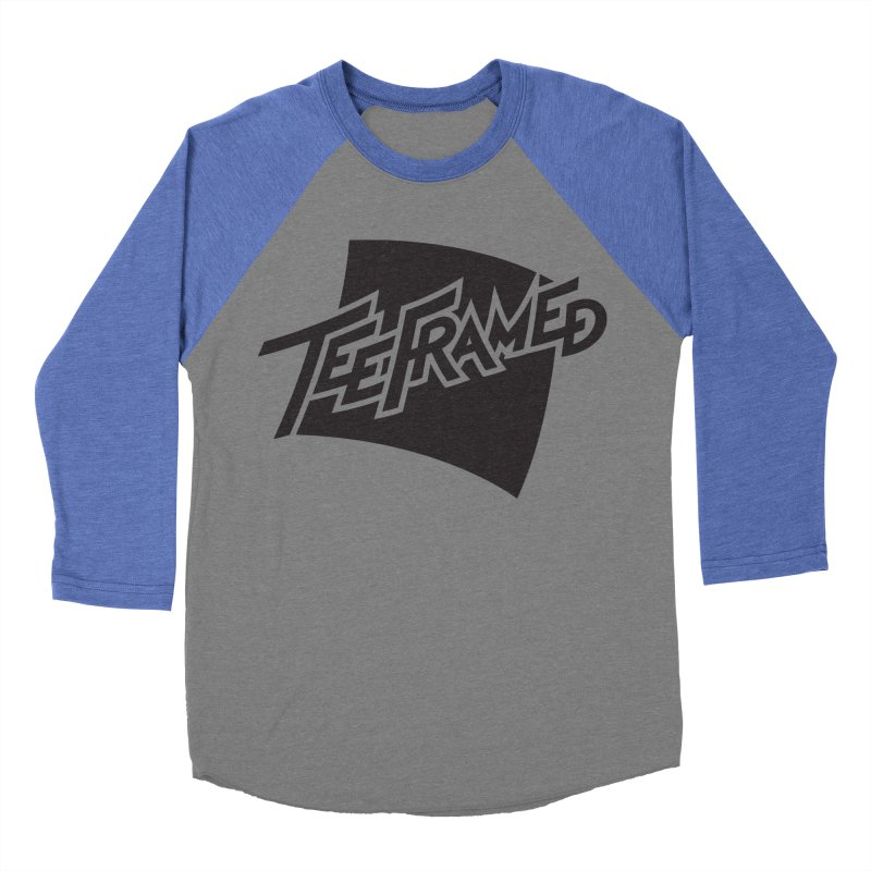 Teeframed - Black Logo Women's Baseball Triblend T-Shirt by Teeframed