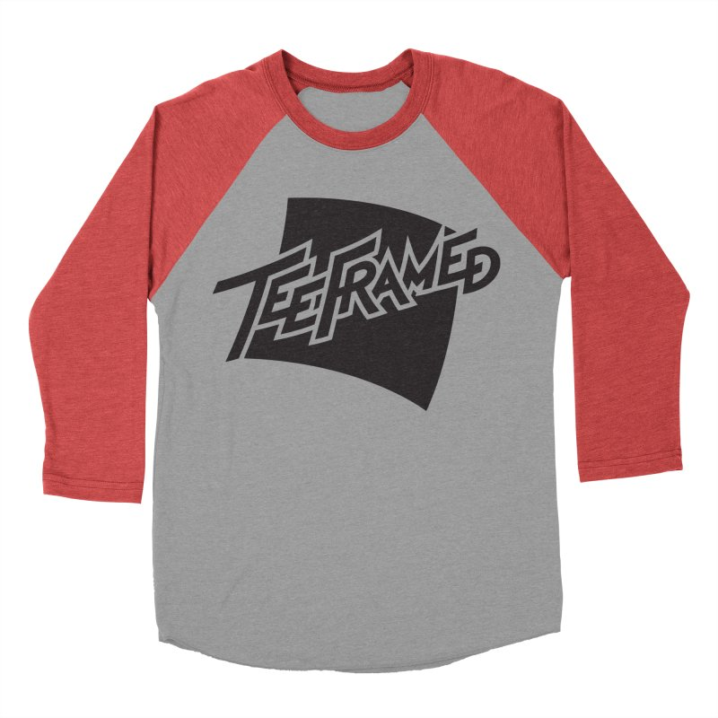Teeframed - Black Logo Men's Baseball Triblend T-Shirt by Teeframed