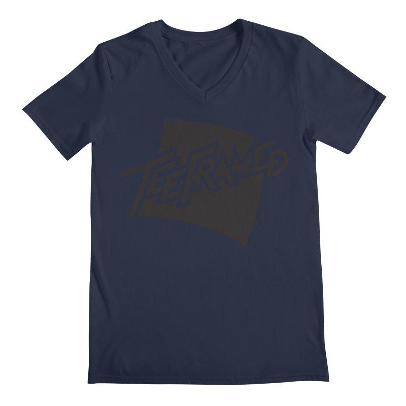 Teeframed - Black Logo Men's V-Neck by Teeframed