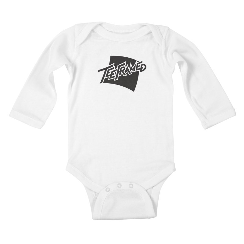 Teeframed - Black Logo Kids Baby Longsleeve Bodysuit by Teeframed