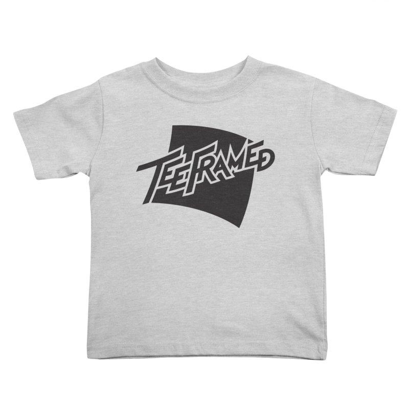Teeframed - Black Logo Kids Toddler T-Shirt by Teeframed