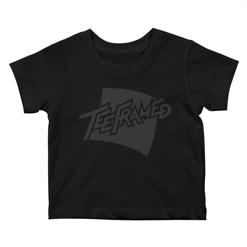 Teeframed - Black Logo Kids Baby T-Shirt by Teeframed