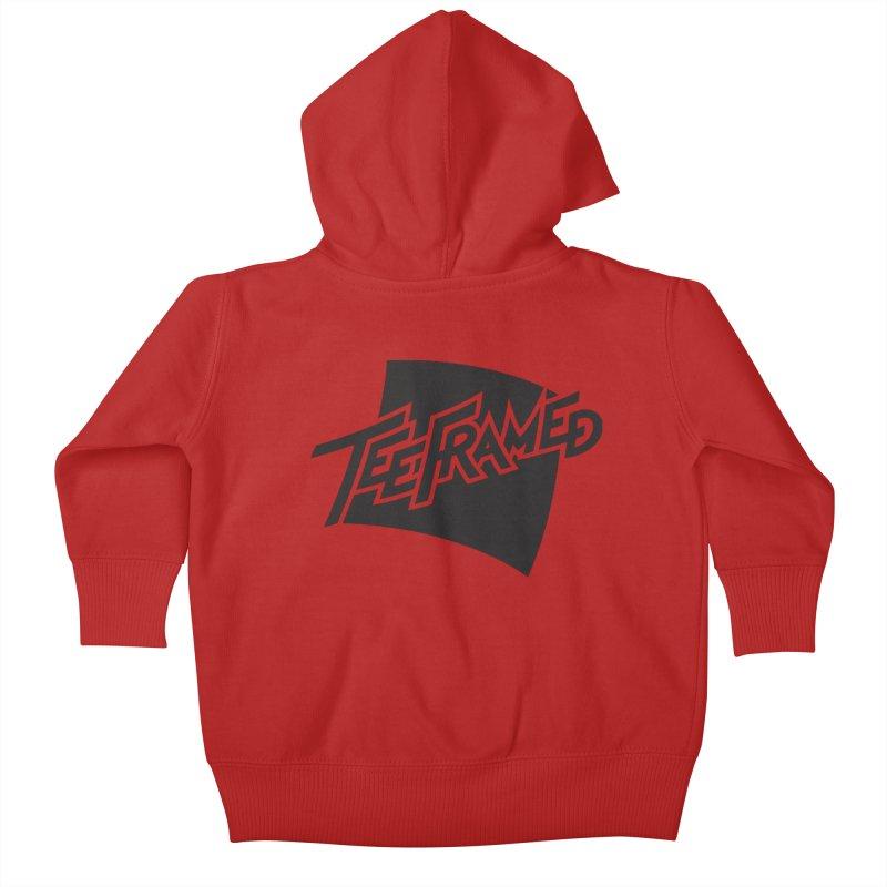 Teeframed - Black Logo Kids Baby Zip-Up Hoody by Teeframed