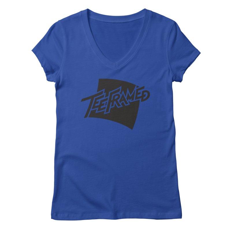 Teeframed - Black Logo Women's V-Neck by Teeframed
