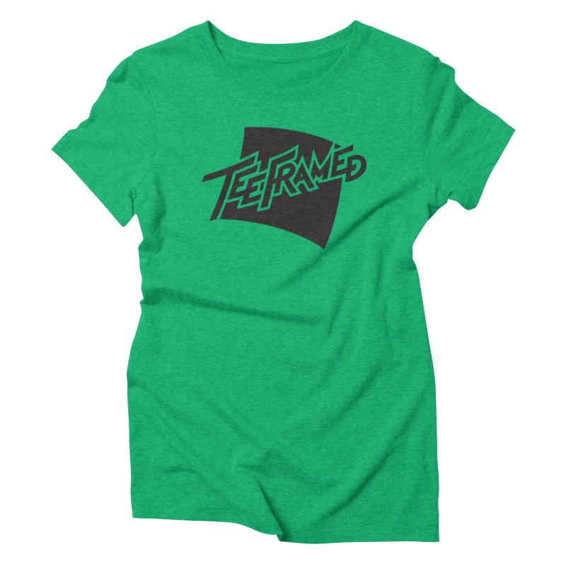 Teeframed - Black Logo Women's Triblend T-shirt by Teeframed