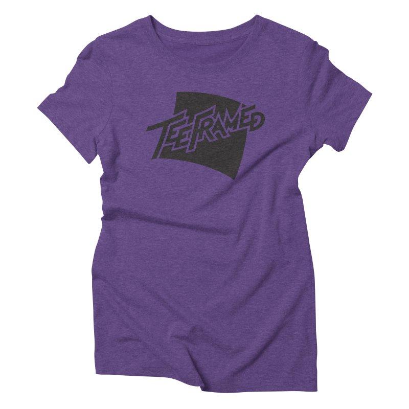 Teeframed - Black Logo Women's Triblend T-shirt by Teeframed