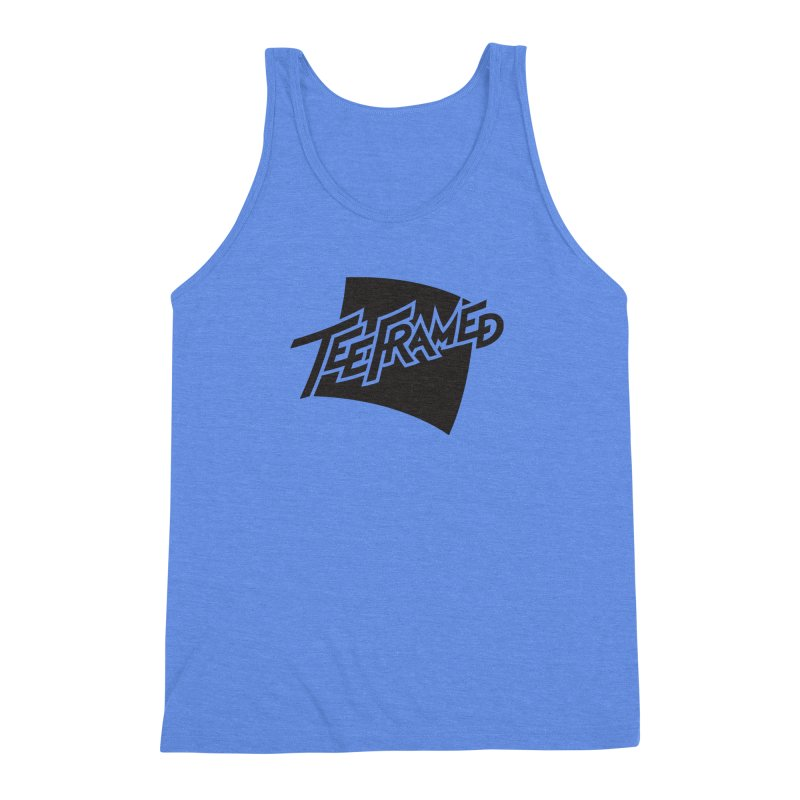 Teeframed - Black Logo Men's Triblend Tank by Teeframed