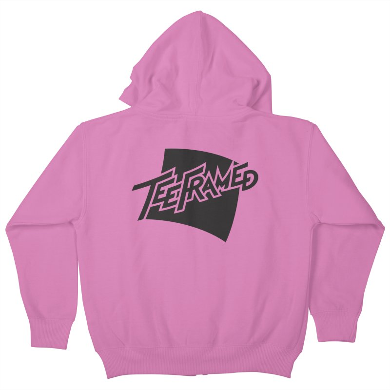 Teeframed - Black Logo Kids Zip-Up Hoody by Teeframed