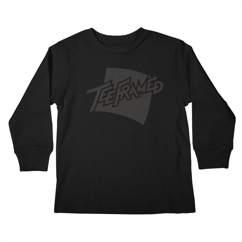 Teeframed - Black Logo Kids Longsleeve T-Shirt by Teeframed