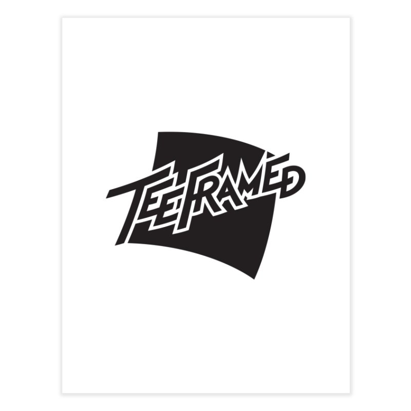 Teeframed - Black Logo Home Fine Art Print by Teeframed